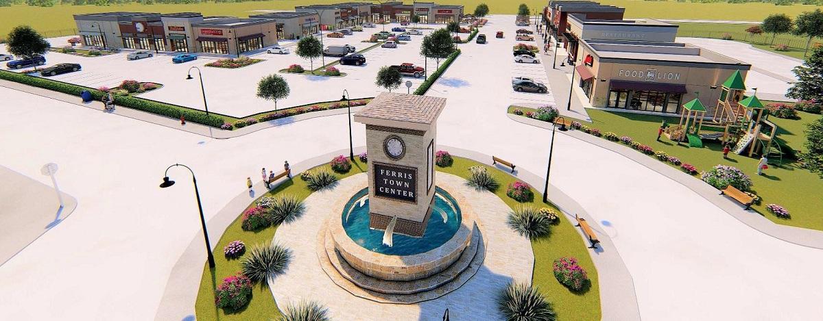 Ferris Town Center Concept Flyover